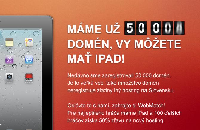Máme už domén, vy môžete mať iPad!